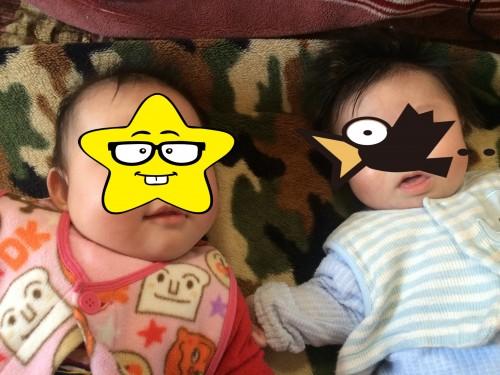 生後4ヶ月の双子