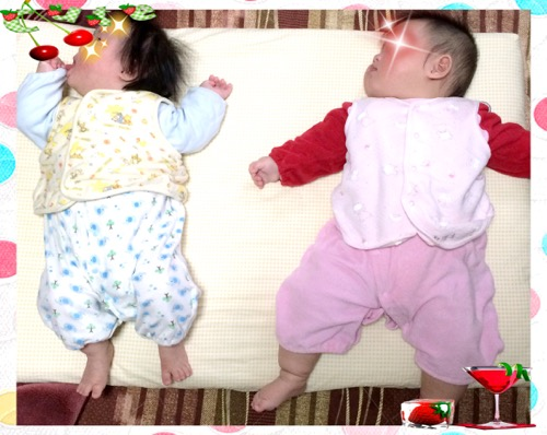 双子の大きさの違い生後5ヶ月