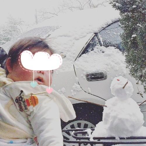 雪だるまとKくん