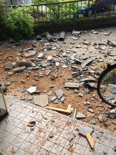 熊本地震自宅の被害
