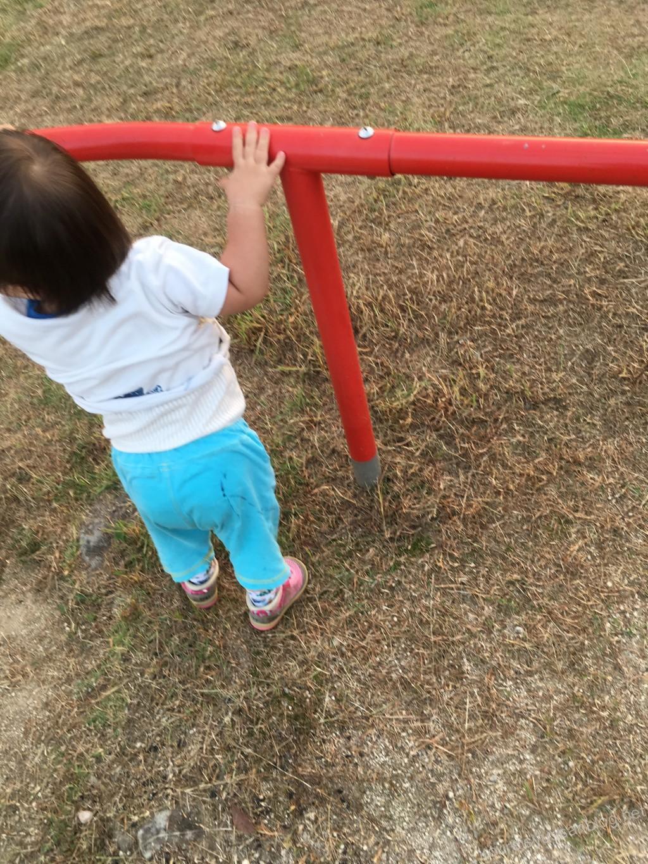 公園で歩く練習