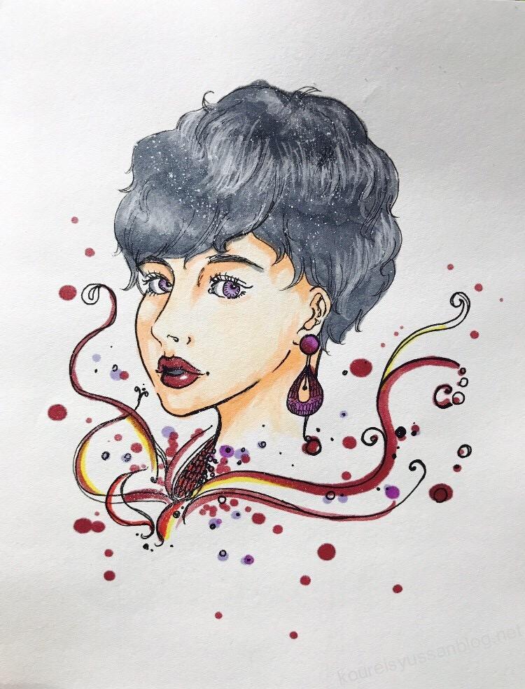 婦人のイラスト